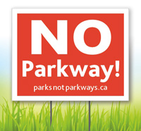 NO Parkway sign